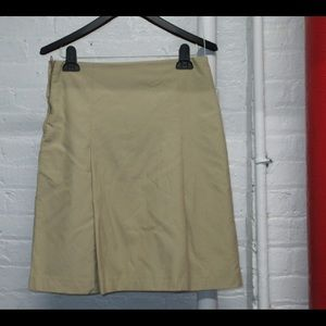 TAN A-LINE SIZE 6 PREPPY SKIRT LIKE NEW CONDITION!